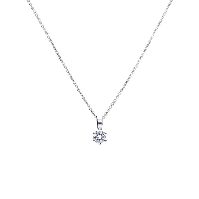 Diamonfire Cubic Zirconia Solitaire Pendant 1ct