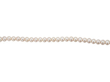 Load image into Gallery viewer, 5mm Fresh Water Pearl Necklace - Silver Clasp
