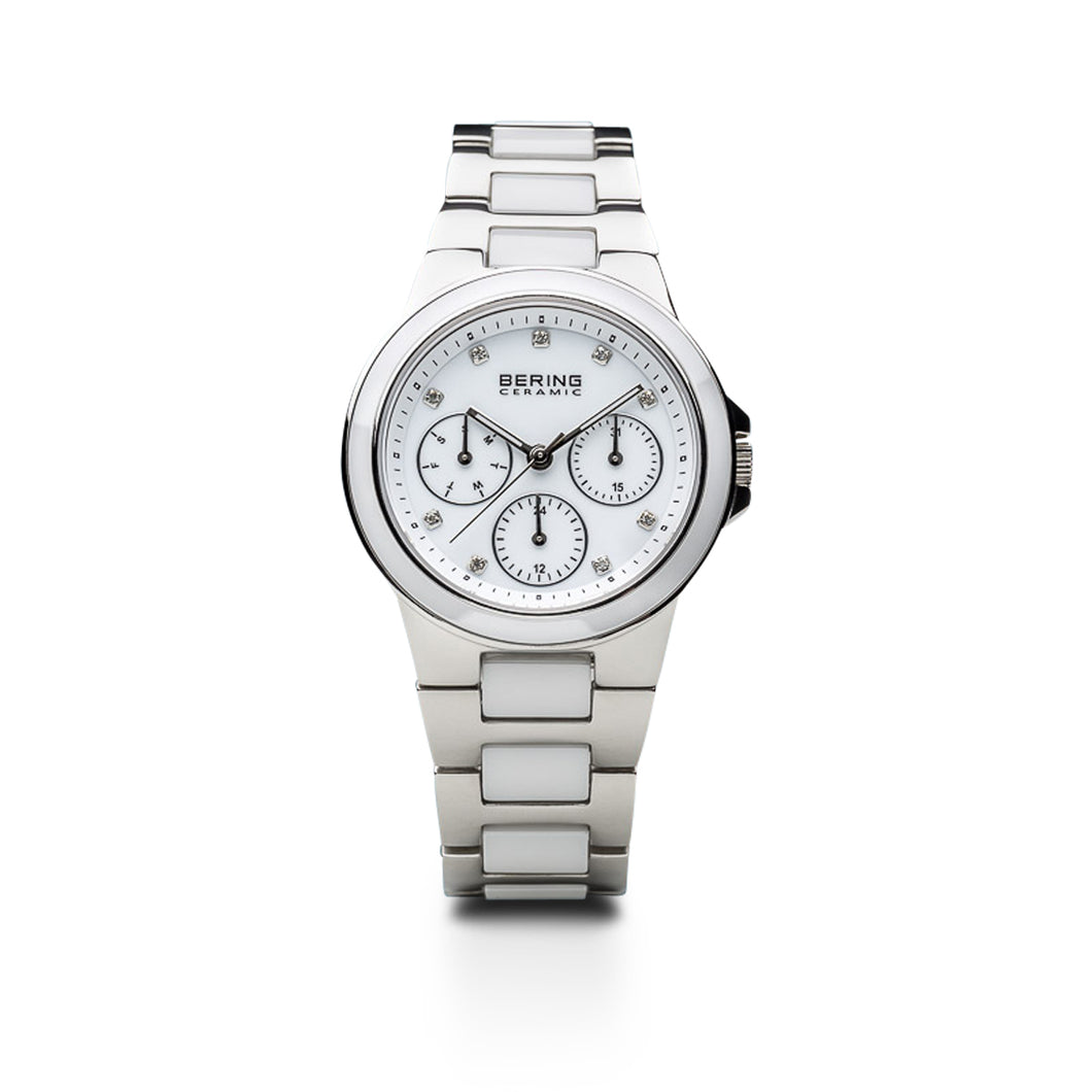 Bering Watch - Unisex White Ceramic and Steel