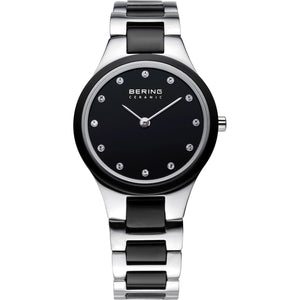 Bering Watch - Ladies Black Ceramic and Steel