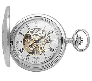 Chrome Pocket Watch with Albert Chain