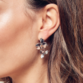 Load image into Gallery viewer, Kit Heath Blossom Bloom Trio Drop Earrings