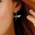 Load image into Gallery viewer, Kit Heath Blossom Flyte Dragonfly Drop Earrings