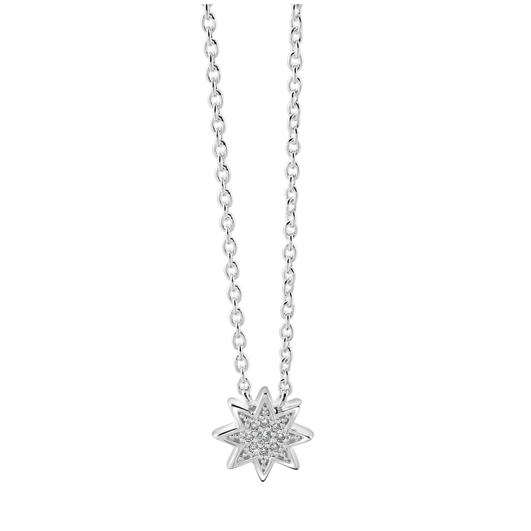 Silver Sparkly Star Necklace