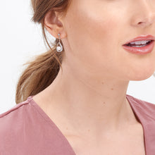 Load image into Gallery viewer, Jersey Pearl Camrose Drop Earrings with White Topaz