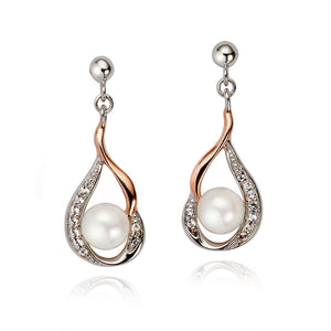 Jersey Pearl Camrose Drop Earrings with White Topaz