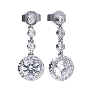 Diamonfire Cubic Zirconia Pave Drop Earrings