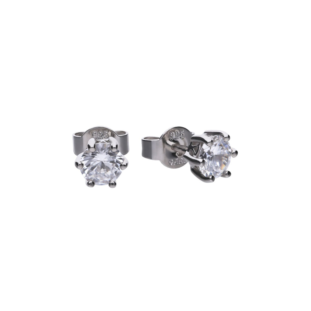 Diamonfire 1ct Cubic Zirconia Sterling Silver Studs