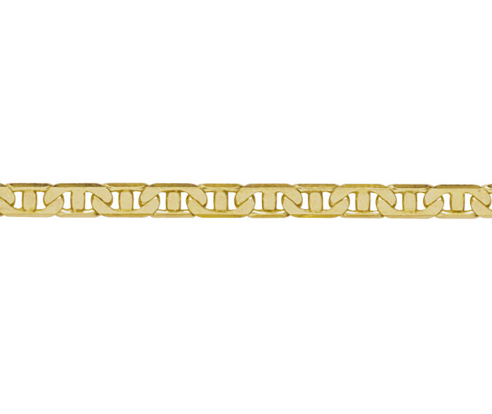 9ct Gold Anchor Link Mens Bracelet
