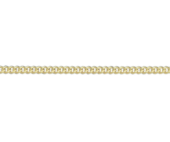 9ct Gold Filed Curb Chain - 20