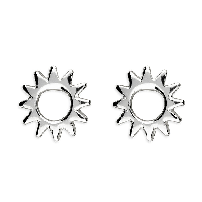 Sterling Silver Open Sunshine Studs