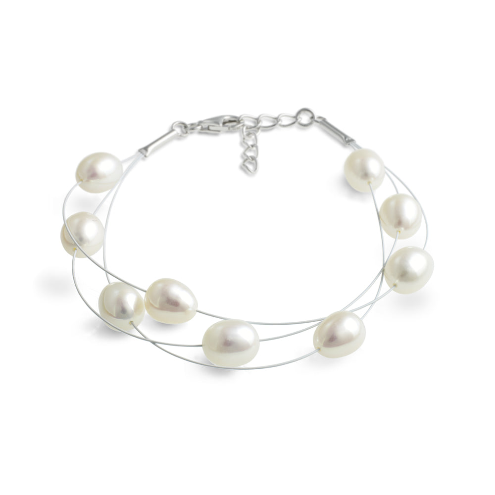 Jersey Pearl Freshwater Pearl Layered Bracelet