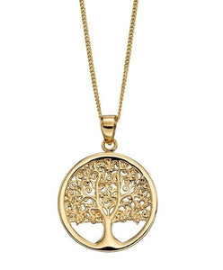 9ct Gold Tree Of Life Necklace