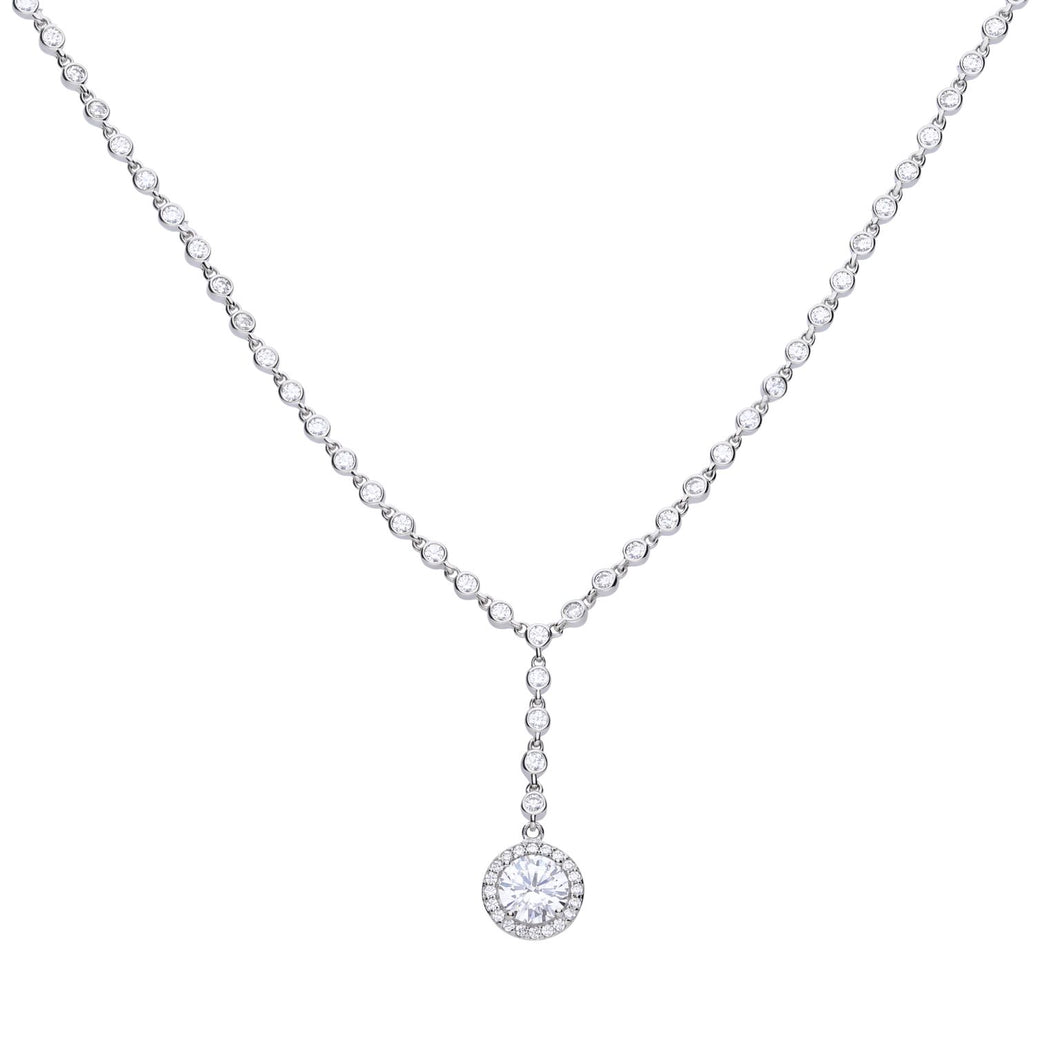 Diamonfire Cubic Zirconia Y Collier Necklace