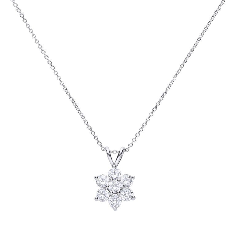 Diamonfire Flower Cluster Pendant