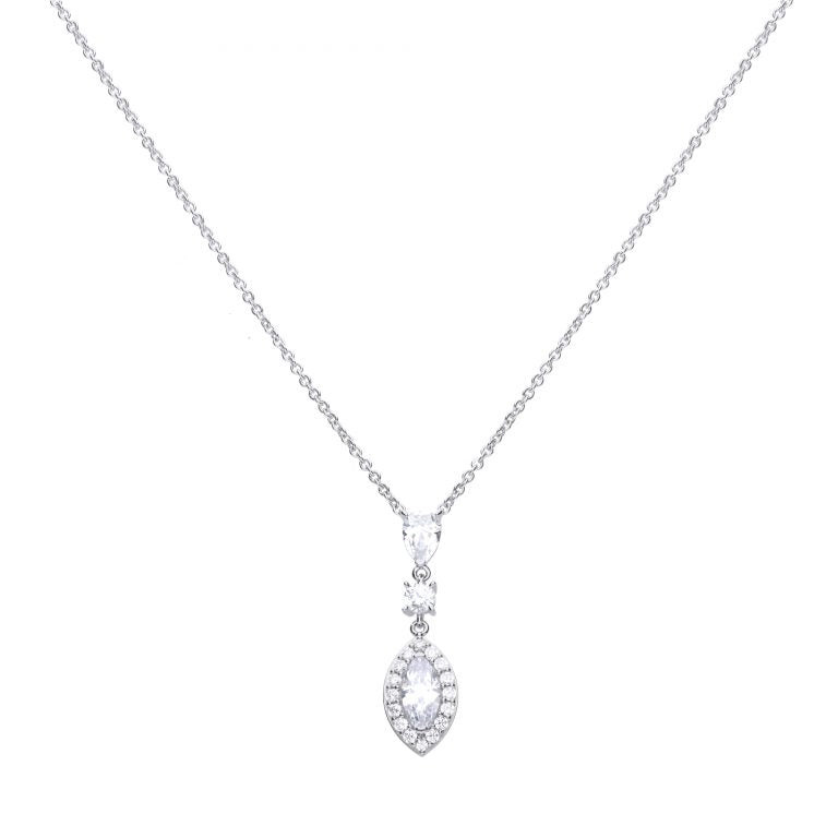 Diamonfire Marquise Drop Pendant