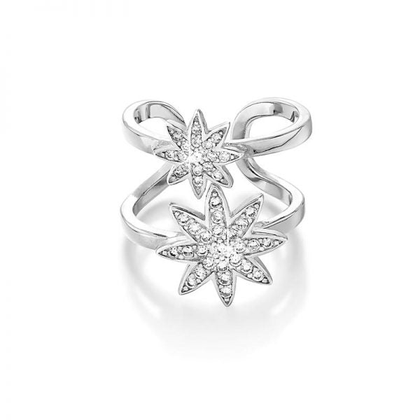 Vixi Jewellery - Nova Statement Double Star Adjustable Ring