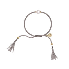 Load image into Gallery viewer, Jersey Pearl Crown Tassel Bracelet
