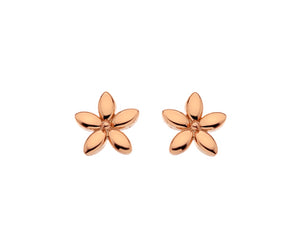 9ct Rose Gold Flower Stud Earrings