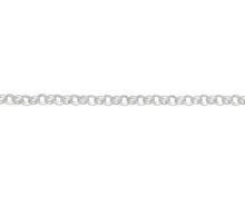 Load image into Gallery viewer, Sterling Silver Round Belcher Chain 18""