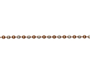 Silver & Rose Gold Plate Beaded Bracelet