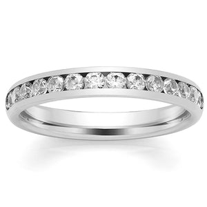 Platinum Eternity Ring - Channel Set 0.50ct