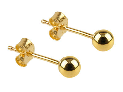 9ct Gold Ball Studs - 3mm