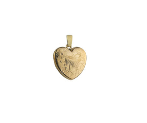 9ct Gold Engraved Heart Locket