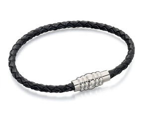 Fred Bennet Black Leather Bracelet