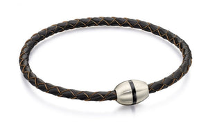 Fred Bennet Skinny Brown  Leather Bracelet