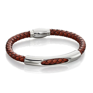 Fred Bennett Brown Leather Tunnel Bracelet