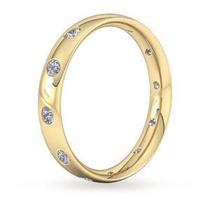 18ct Gold Diamond Band