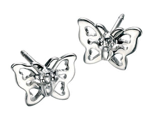 D for Diamond Butterfly Studs