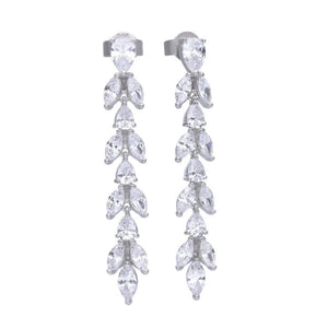Diamonfire Cubic Zirconia Vine Drop Earrings