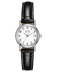 Ladies Citizen Watch - Eco Drive Classic Black Strap