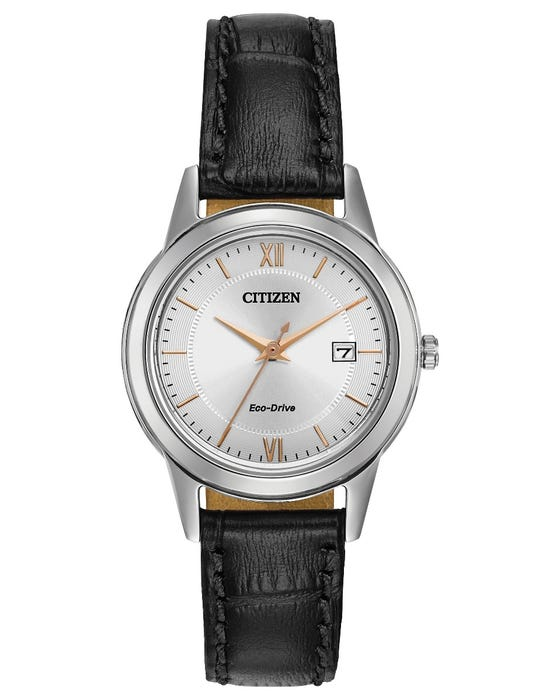 Ladies Citizen Watch - Eco Drive Black Strap Stainless Steel
