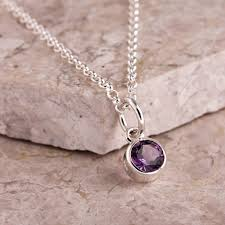 Lily Charmed February Birthstone Necklace - Amethyst