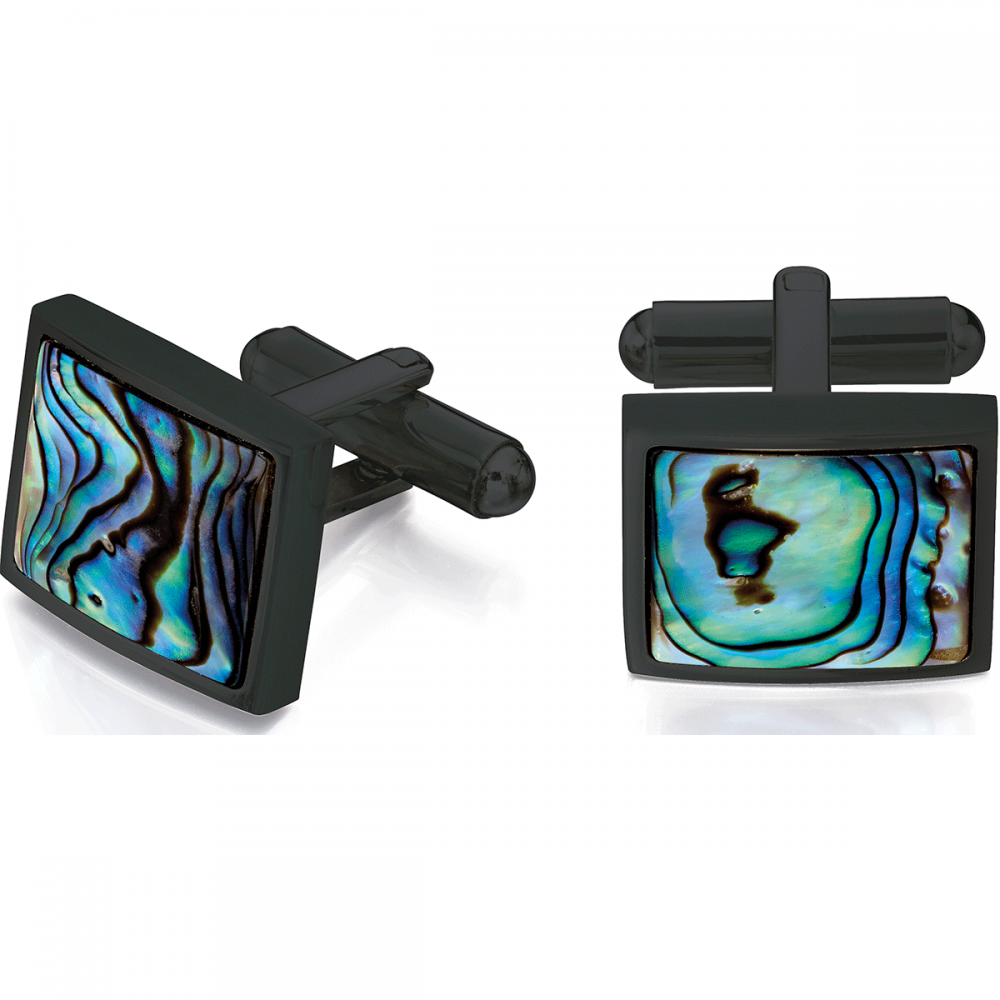 Fred Bennett Black Abalone Shell Cufflinks
