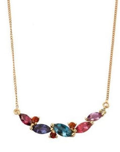 9ct Gold Mixed Gemstone Necklet