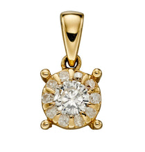 Load image into Gallery viewer, 9ct Diamond Cluster Pendant