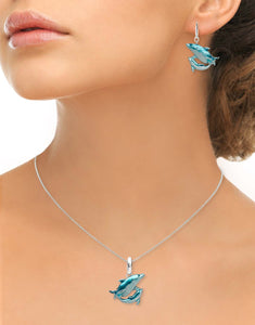 Nicole Barr Mother and Baby Dolphin Necklace