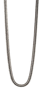 Fred Bennett Oxidized Silver Foxtail Link Chain