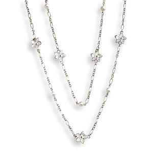 Nicole Barr White Stephanotis Long Length Necklace