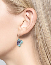 Load image into Gallery viewer, Nicole Barr Purple Butterfly Drop Earrings
