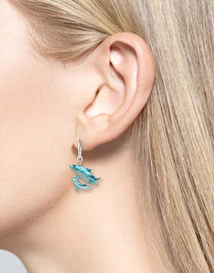 Nicole Barr Mother and Baby Dolphin Earrings