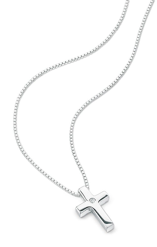 D for Diamond Cross Necklace
