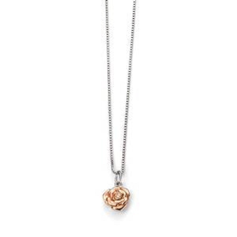 D for Diamond Rose Necklace