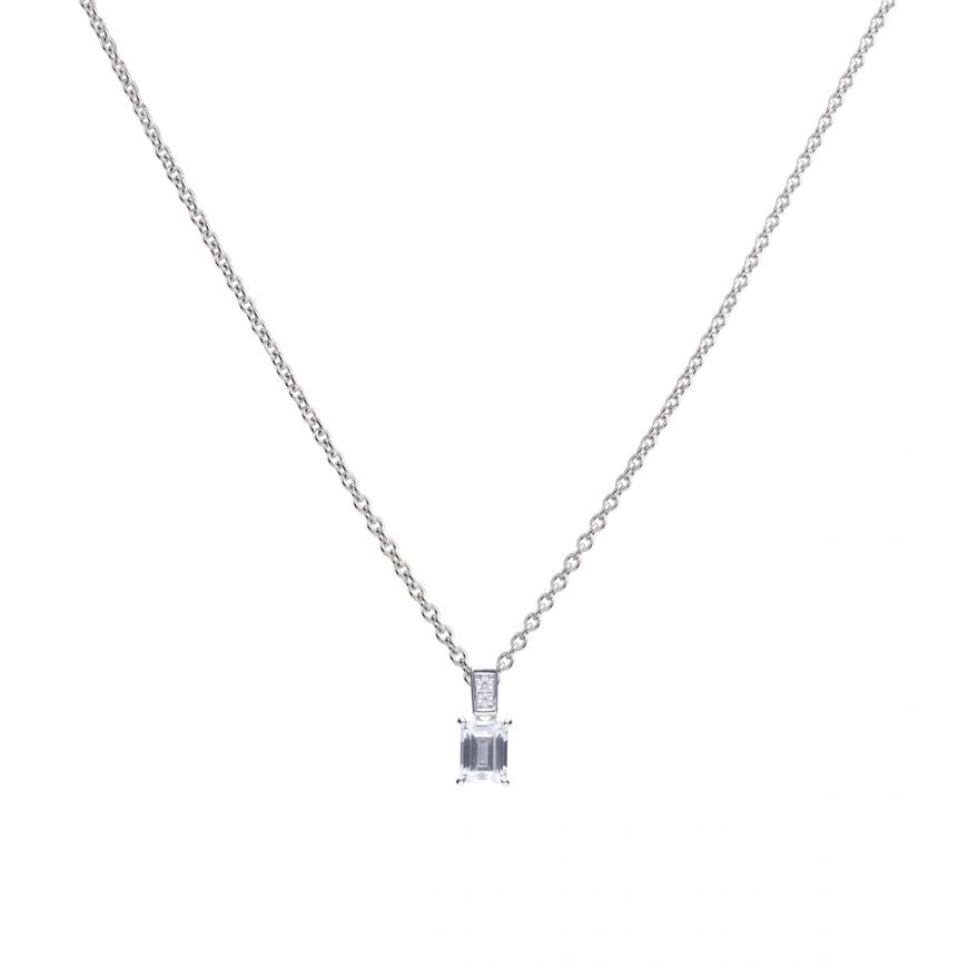 Diamonfire Emerald Cut Cubic Zirconia Pendant