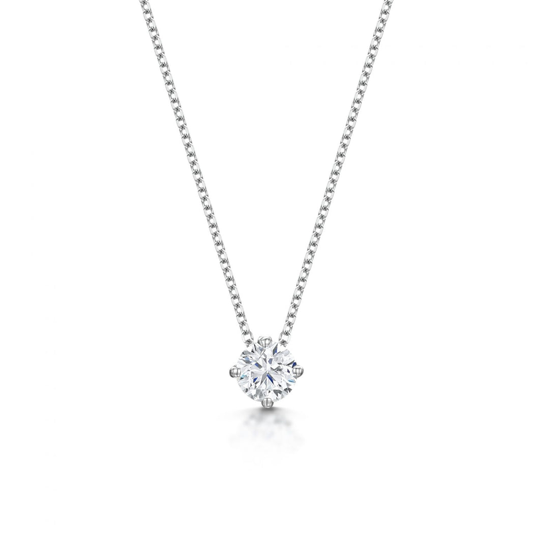 Diamond Solitaire Pendant & Chain