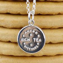 Load image into Gallery viewer, Lily Charmed Rich Tea Biscuit Necklace